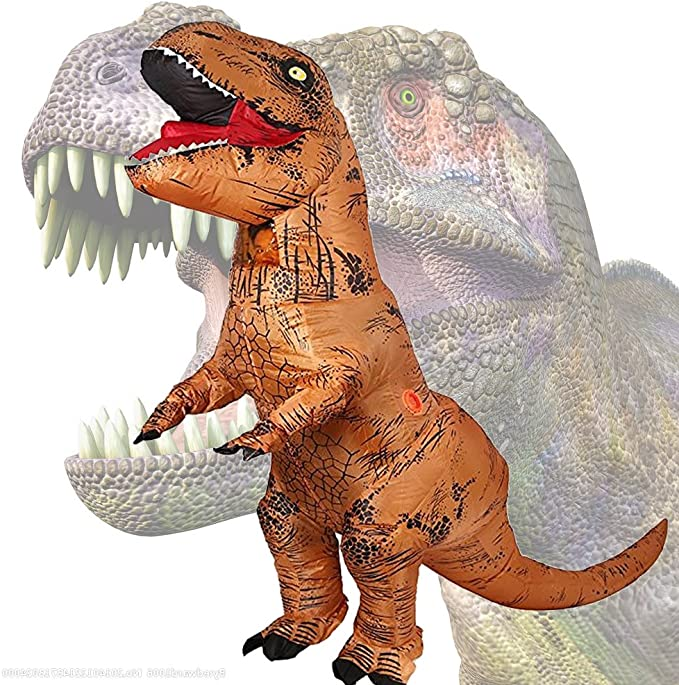 JASHKE Ropa Inflable de tiranosaurio Disfraz de Fiesta de Carnaval ...