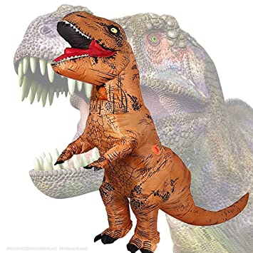 JASHKE Ropa Inflable de tiranosaurio Disfraz de Fiesta de Carnaval de Halloween