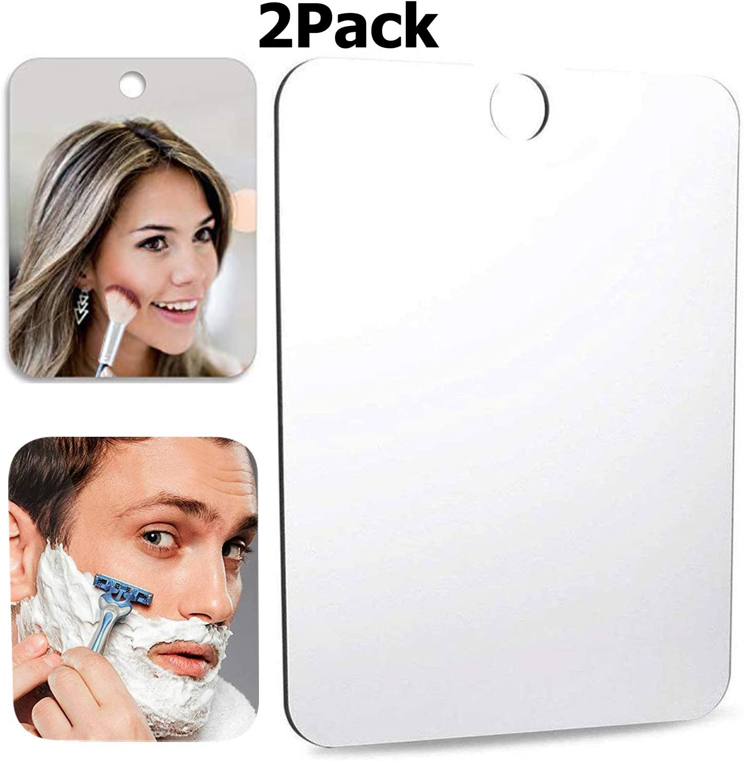 Anit-Fog Shower 2 XoYo-2PACK Fogless Shower Mirror Includes 2 Adhesive Hooks