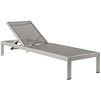 Amazon Modway Shore Outdoor Patio Aluminum Chaise Lounge Chair