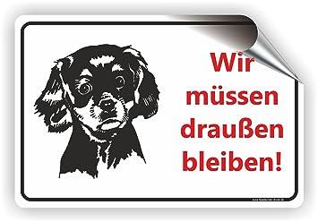 Hunde Müssen Draußen Bleiben Keine Hunde T 011 30x20cm