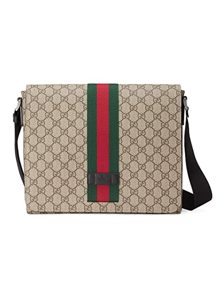 grande vendita e3bb8 2f322 Gucci Borsa Messenger Uomo 475432KHNGN9692 Pelle Beige ...