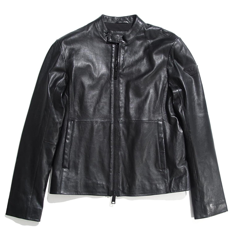 (エンポリオアルマーニ) EMPORIO ARMANI ライダースジャケット [並行輸入品] B079WVND3S  ブラック 46