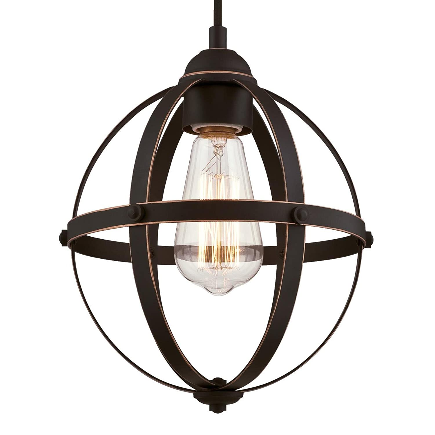 Westinghouse Lighting 6328100 Weston Four-Light Indoor Chandelier, Oil Rubbed Bronze and Washed Copper Finish