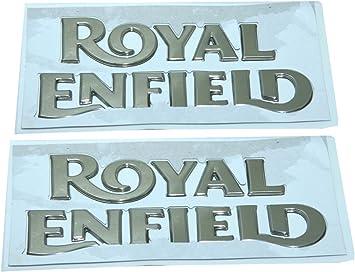 Enfield County 1 Paar Royal Enfield Benzintank Goldenes Logo Emblem Monogramm Auto