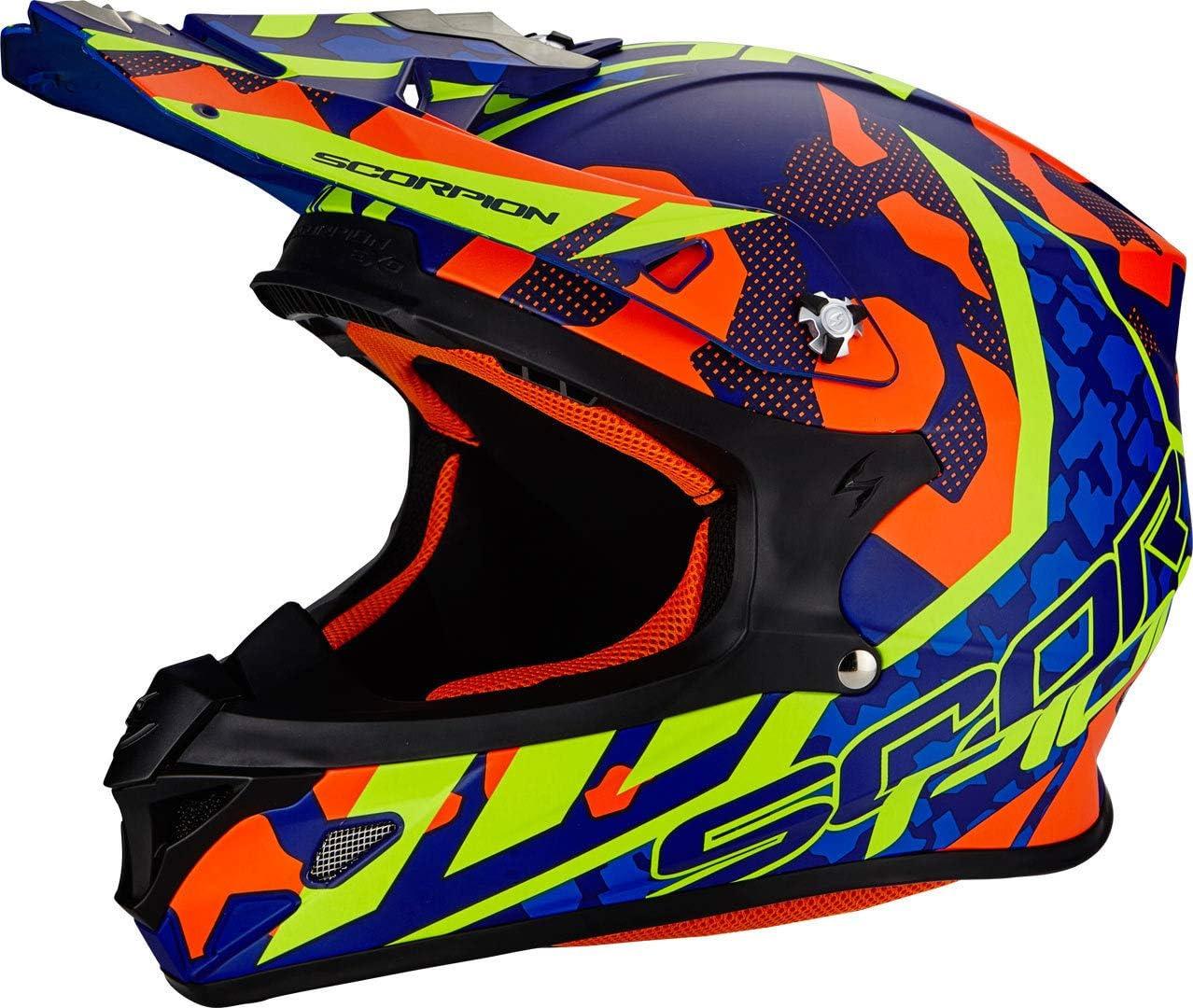 Black//Neon Red Scorpion Casco Moto VX-21/Air mudirt XS
