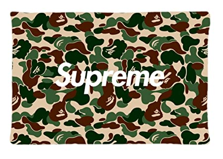 Bape Pattern Unique Fashion Diy Image Custom Pillow Case X Inches Bedroom Decorative Pillowcase Cover Sofa