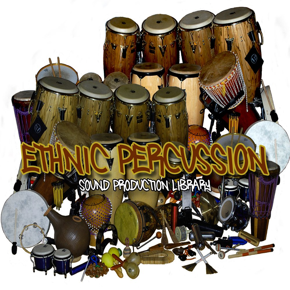 ETHNIC Percussion Instruments and Sounds - Large 24bit Samples Library 1.4 GB on DVD or download by SoundLoad