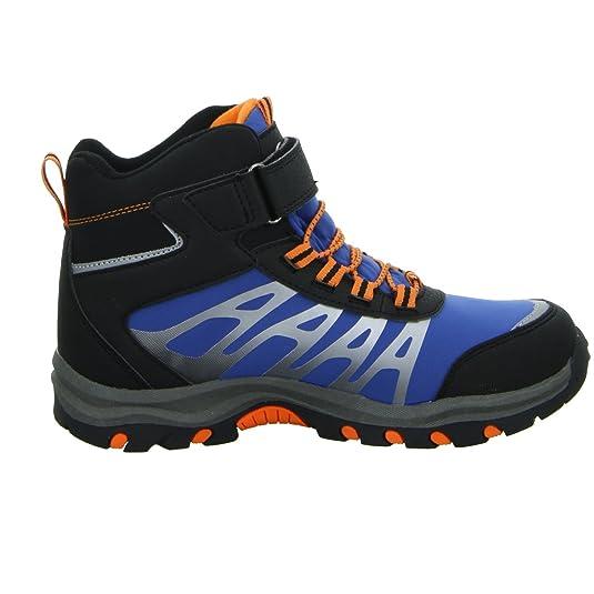 Sneakers Allwetterstiefel H1339J-2-BL Jungen Gefüttert Schwarz Blau Orange, Größe 31