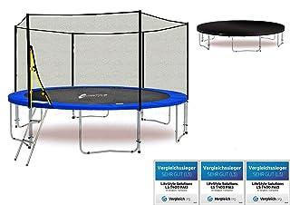 LifeStyle ProAktiv LS-T430-PA14 (BW) Trampolino da giardino 430cm - incl. Rete di sicurezza 130g/m² - New