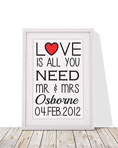 Amazon Wedding Present Love Is All You Need Framed Print