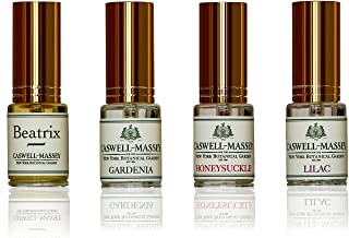 product image for Caswell-Massey Eau De Toilette Sampler Gift Set - Travel Size NYBG Floral Fragrances in Honeysuckle, Gardenia, Lilac and Rose Scents, 15 ml Each (Set of 4)