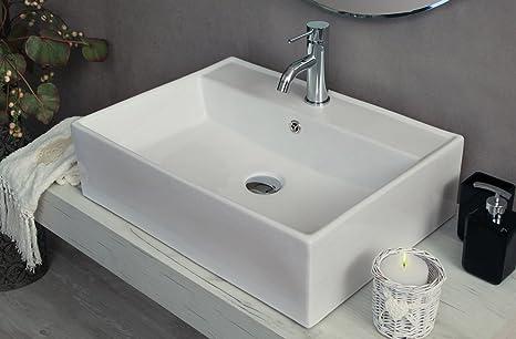 Lavandini Da Bagno Moderni : Yellowshop lavabo da appoggio cm 58 x 45 bacinella lavandino