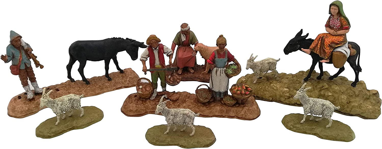 Kit da 5 Scene Pastori Mestieri contadini Landi Moranduzzo Pastori Presepe