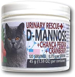 Equa Holistics Urinary Rescue D-Mannose, Cranberry, and Chanca Piedra for Cats | UTI Remedy for Cats