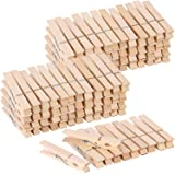 100pcs Large Wooden Clothespins Heavy Duty Clothes Pins for Laundry Hanging Clothes-Wood Clip for Crafts Pictures