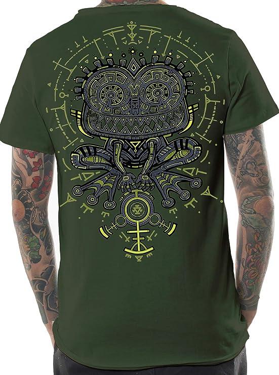 Street Habit - Camiseta psicodélica para hombre, diseño de sapo psicodélico: Amazon.es: Ropa y accesorios