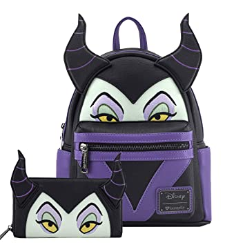 Disney Maleficent 10 5 Height Mini Backpack And Wallet Set By Loungefly Multi