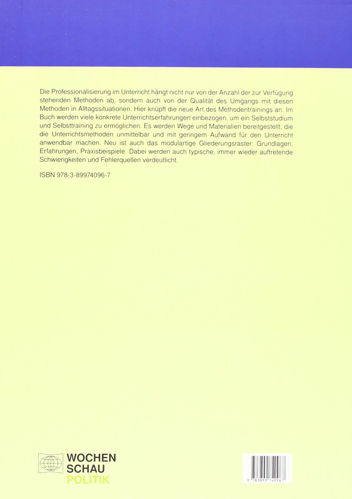 Methodentraining für den Politikunterricht I: Mikromethoden ...