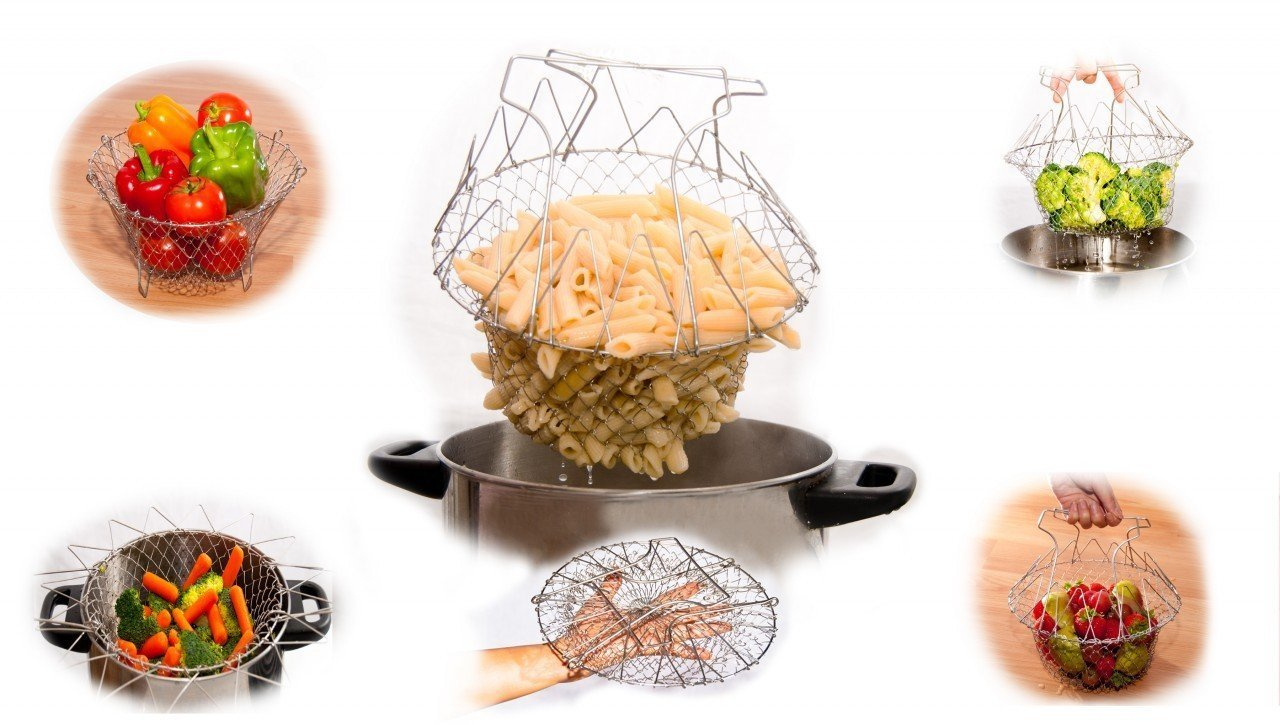Ascension 12 in 1 Chef Basket Kitchen Tool of Stainless: Amazon.in ...