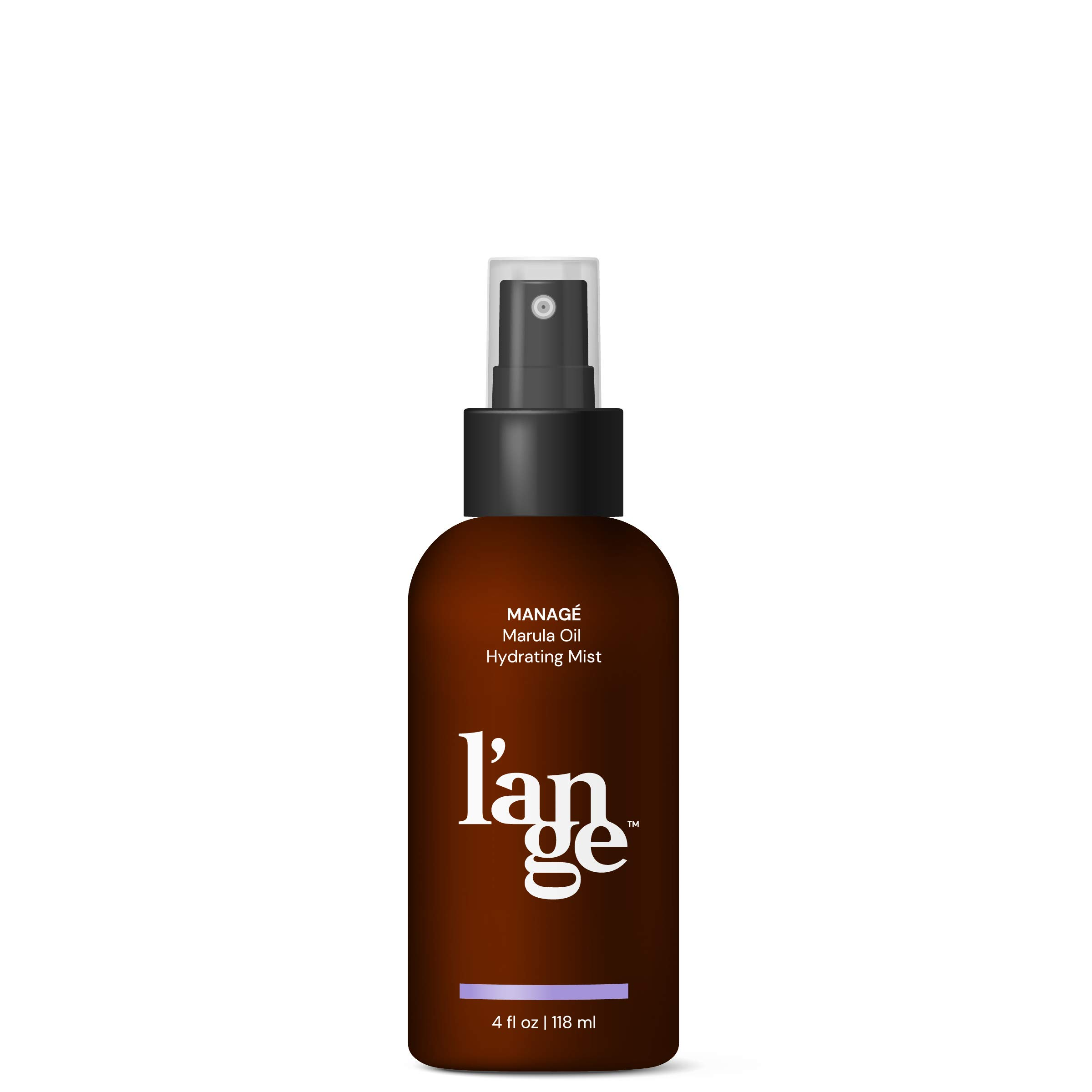 L'ange Hair MANAGÉ Marula Oil Hydrating Mist - Anti-aging Antioxidants & UV Protectant - Anti-frizz Hair Styling - Professional Salon Grade - Deep Moisturizing & Nourishing Formula - 4 Fl Oz
