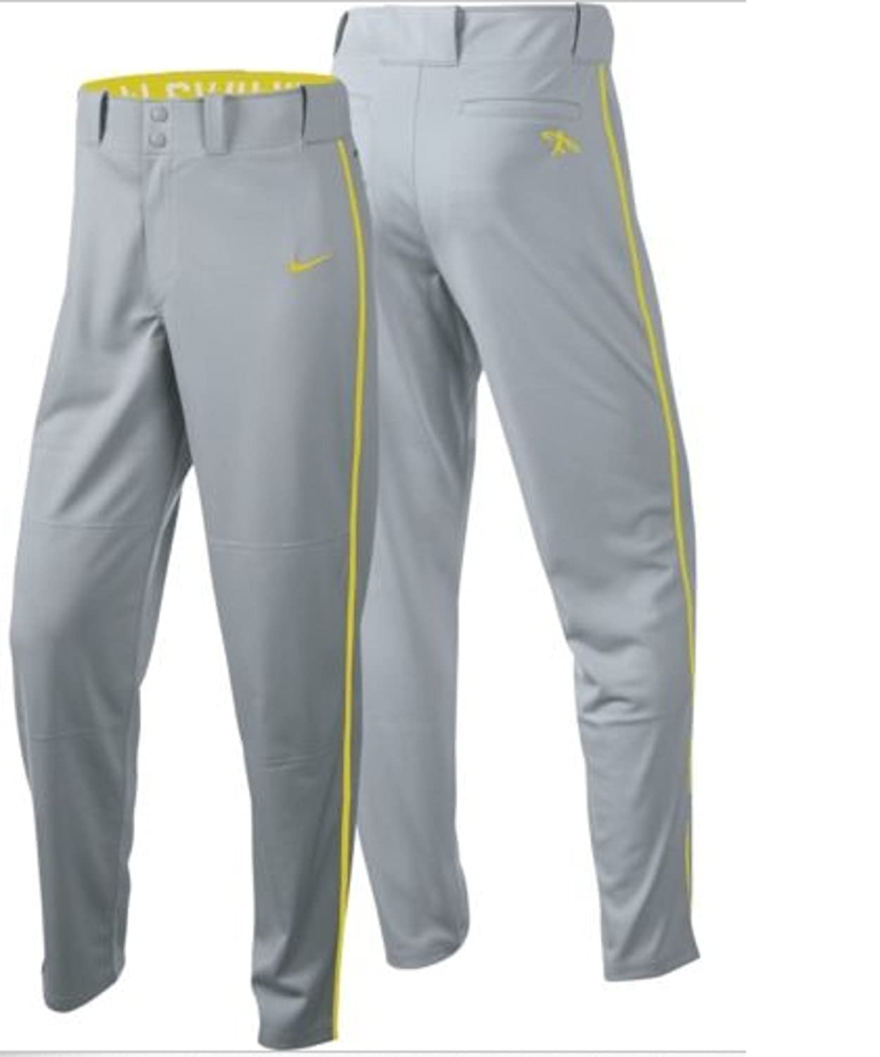 cf9c970d81d0 Amazon.com   Nike Boys Swingman Dri-FIT Piped Baseball Pants (Grey Yellow