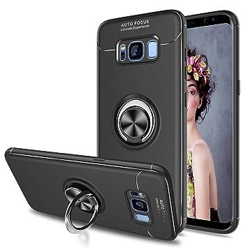 LeYi Compatible with Funda Samsung Galaxy S8 Plus S8+ con Anillo Soporte, 360 Grados Giratorio Ring Grip con Kickstand Gel TPU de Silicona Bumper Case ...