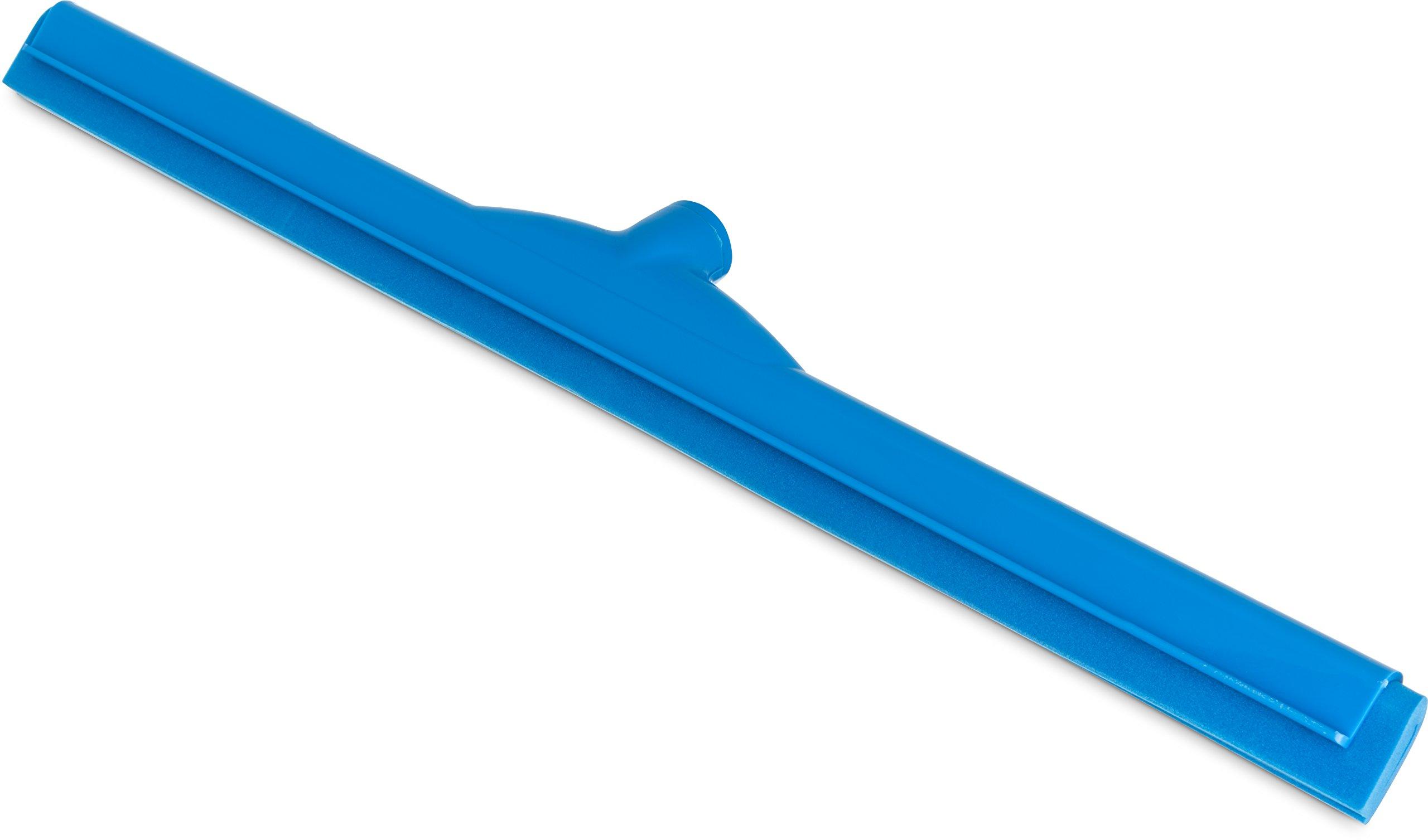 Carlisle 4156814 Spectrum Double Foam Rubber Hygienic Floor Squeegee, 24'' Width, Blue (Case of 6)