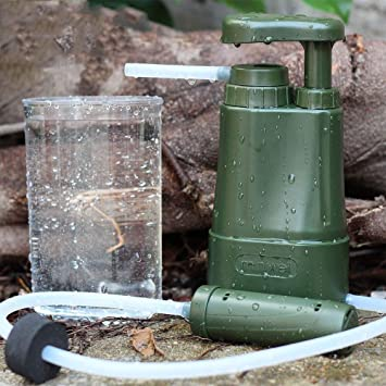 No Logo Kit de purificador de Agua sin Logotipo para Supervivencia al Aire Libre, Verde: Amazon.es: Deportes y aire libre