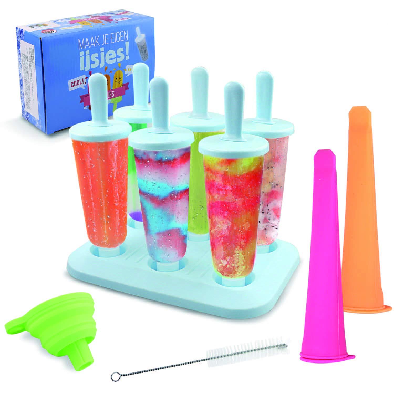 CRMICL 6 Pcs Molde para helados, molde reutilizables Para helados ...