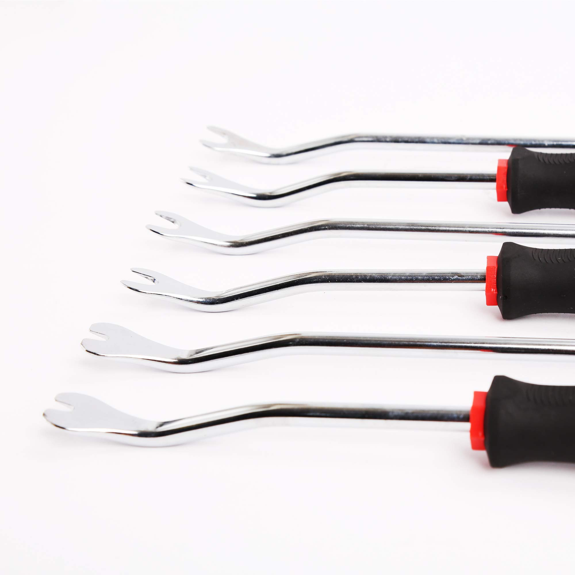 WINTOOLS 6PCS Heavy Duty Car Vehicle Trim Clip Removal Set Upholstery Chrome Car Door Panel by WINTOOLS (Image #2)