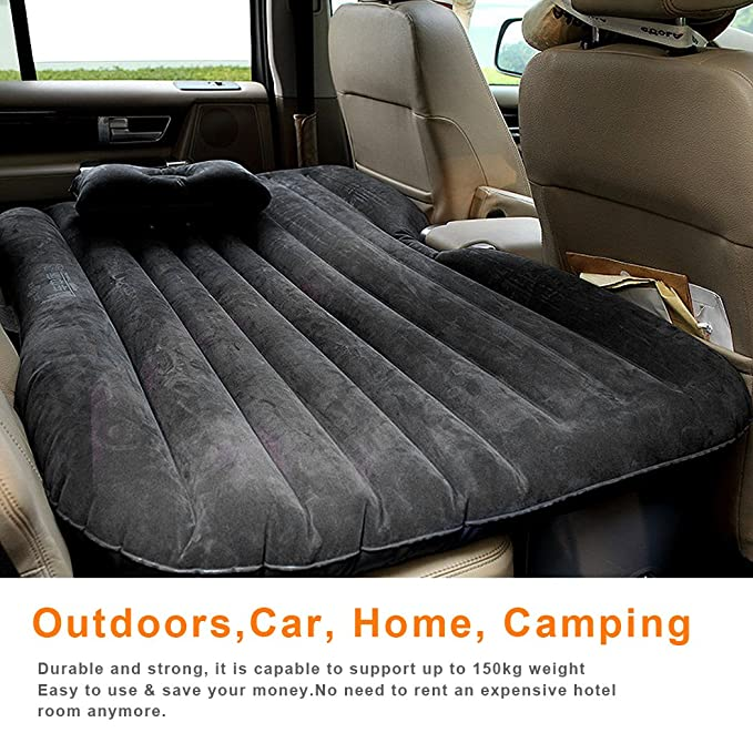 Bluefringe Car Air Mattress Travel Air Cushion Multifunctional Inflatable Bed with One Air Pillows for Travel and Sleep Rest,Extra Mattress,with ...
