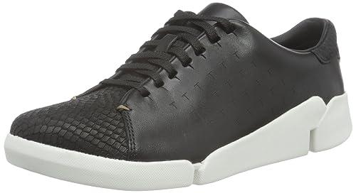 Tri Abby - Zapatillas para Mujer, Color Blanco (White Leather), Talla 37.5 EU Clarks