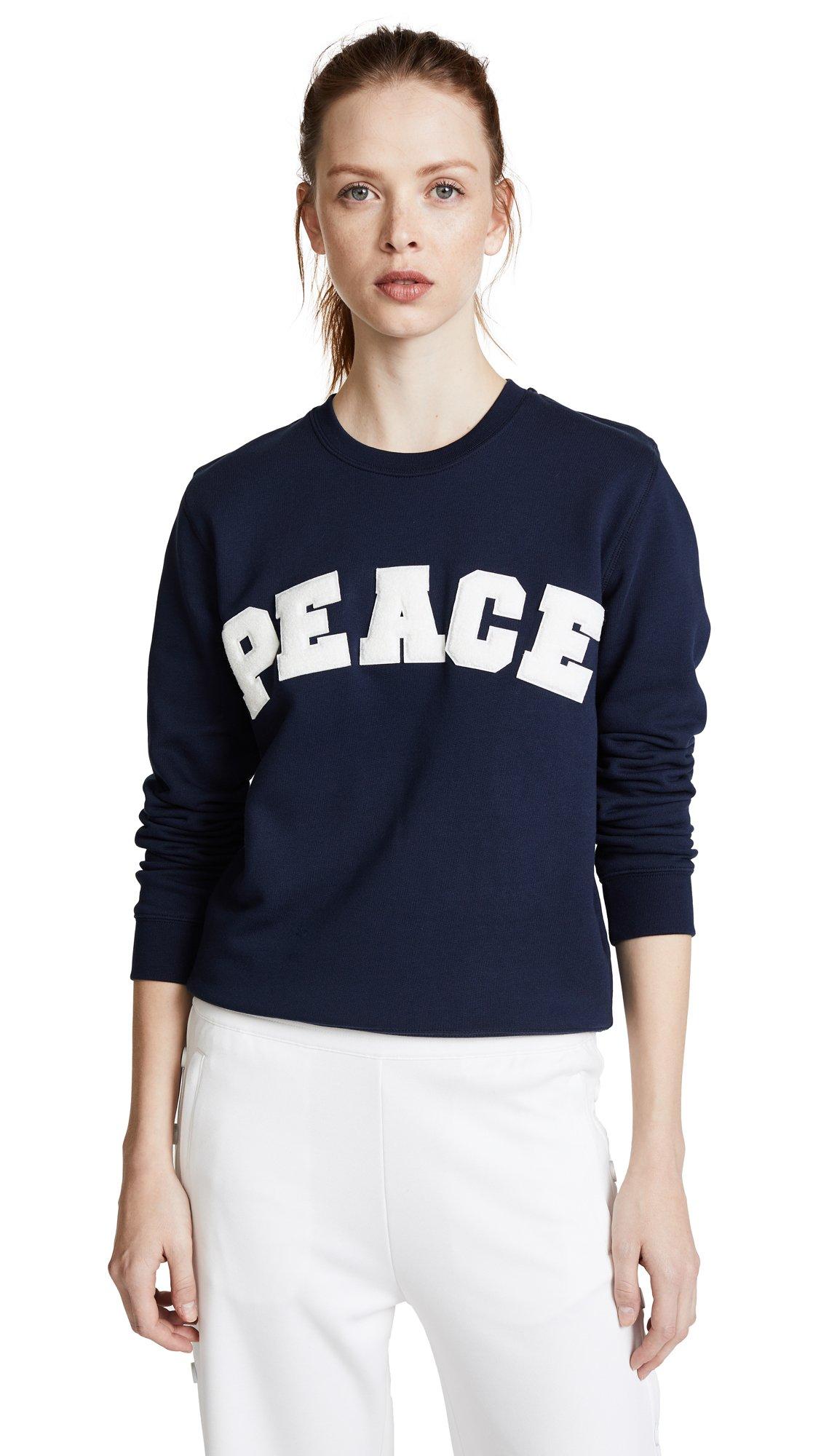 Tory Sport Women's Letterman Crew Sweater, Tory Navy, Medium