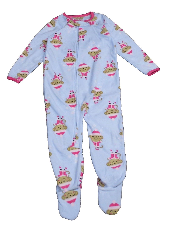 22f8a7ce7e Amazon.com  Carter s Child of Mine Made Little Girls  Toddler Microfleece  Christmas Blanket Sleeper  Clothing