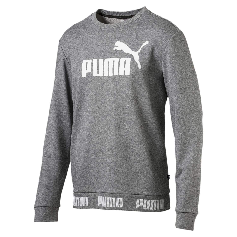 TALLA 56/58 E. Puma Amplified Crew TR Sudadera, Hombre