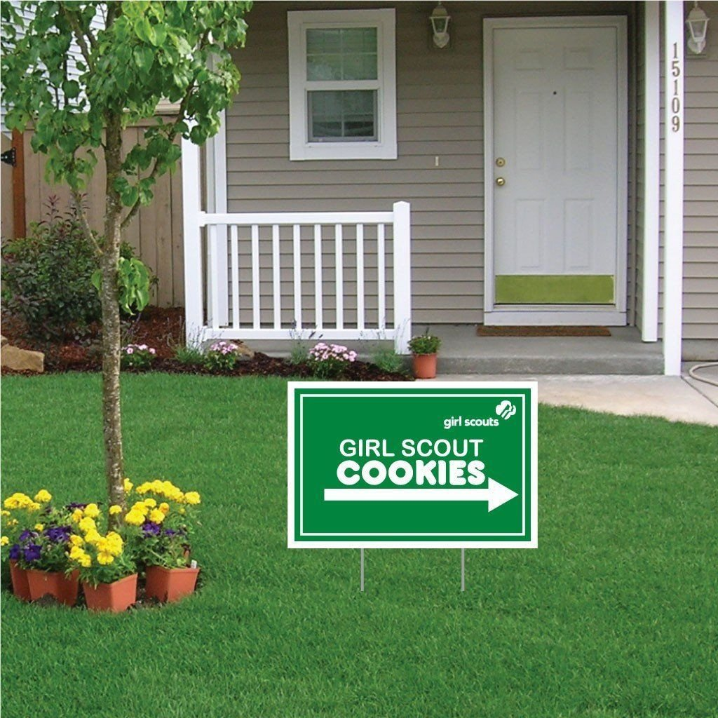 VictoryStore Yard Sign Outdoor Lawn Signs: 12''X18'' Girl Scouts Cookies Sign (48)