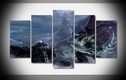 Amazon Com My Canvas Art 5pcs Illidan Stormrage And Arthas