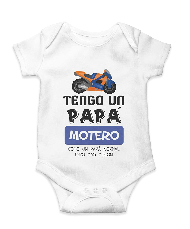 Body Camiseta Bebé Niño Motero Papá Mamá Motos Regalo Original