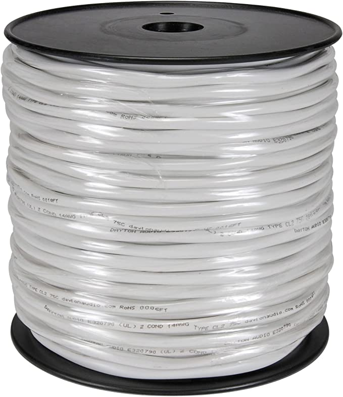 Audtek 52142H9E 14//2 OFC In-Wall CL2 Speaker Cable 250 ft.