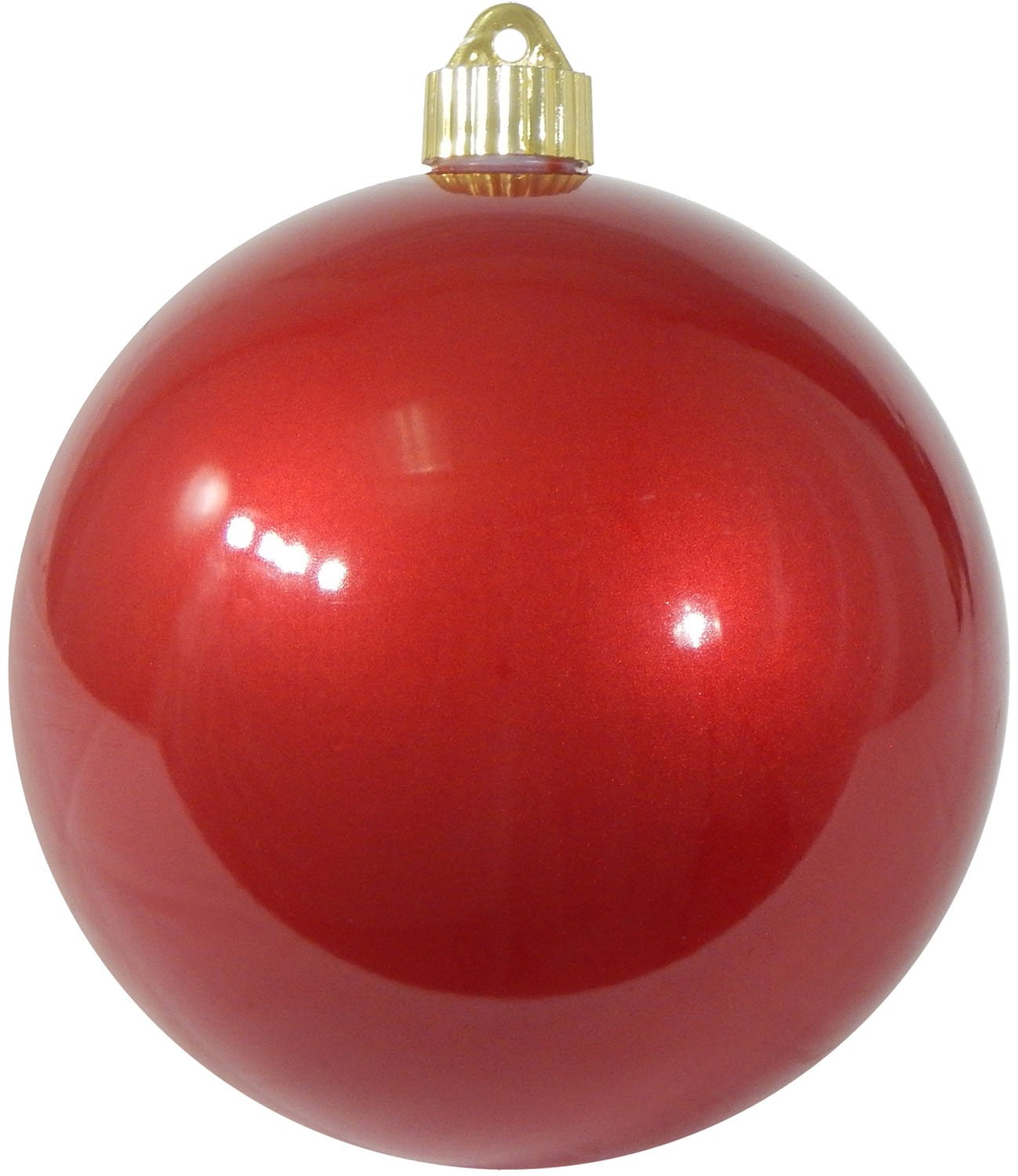 Christmas By Krebs CBK72954 Shatterproof UV-Resistant Christmas Ball Ornaments 6'' Candy Red 12 Piece