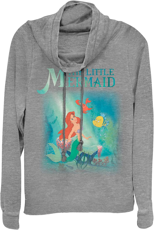 The Little Mermaid Juniors Ariel and Friends Cowl Neck Sweatshirt