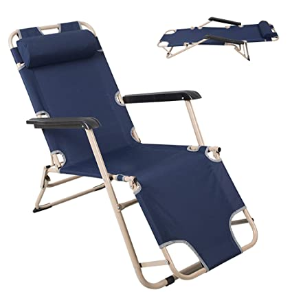 Awesome Lucky Tree Portable Chaise Lounge Chair And Adjustable Flat Cot Folding Patio Recliner Chair For Outdoor Camping Beach Pool Gmtry Best Dining Table And Chair Ideas Images Gmtryco