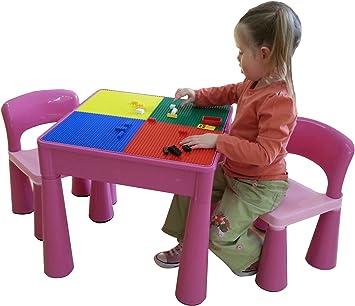 Liberty House LH899P uego de mesa y 2 sillas infantiles, color Rosa