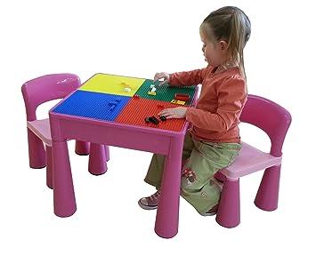 Liberty House LH899P uego de mesa y 2 sillas infantiles, color Rosa ...