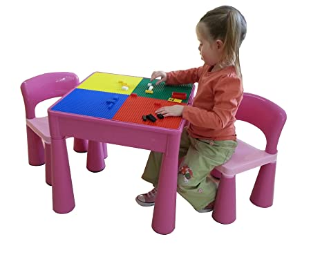 Liberty House Toys 5 In 1 Activity Table U0026 Chairs With Writing Top/Lego/
