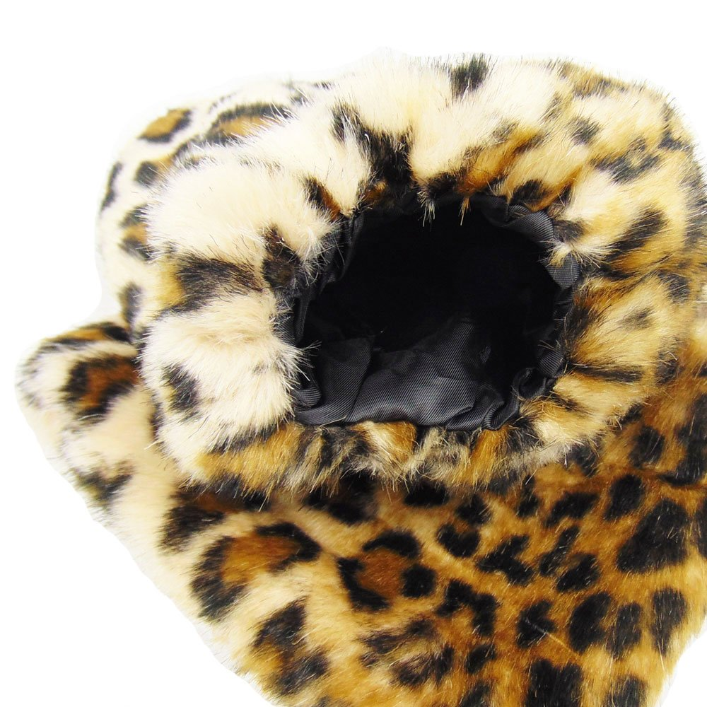 Leopard Partybob Damen Fellstulpen
