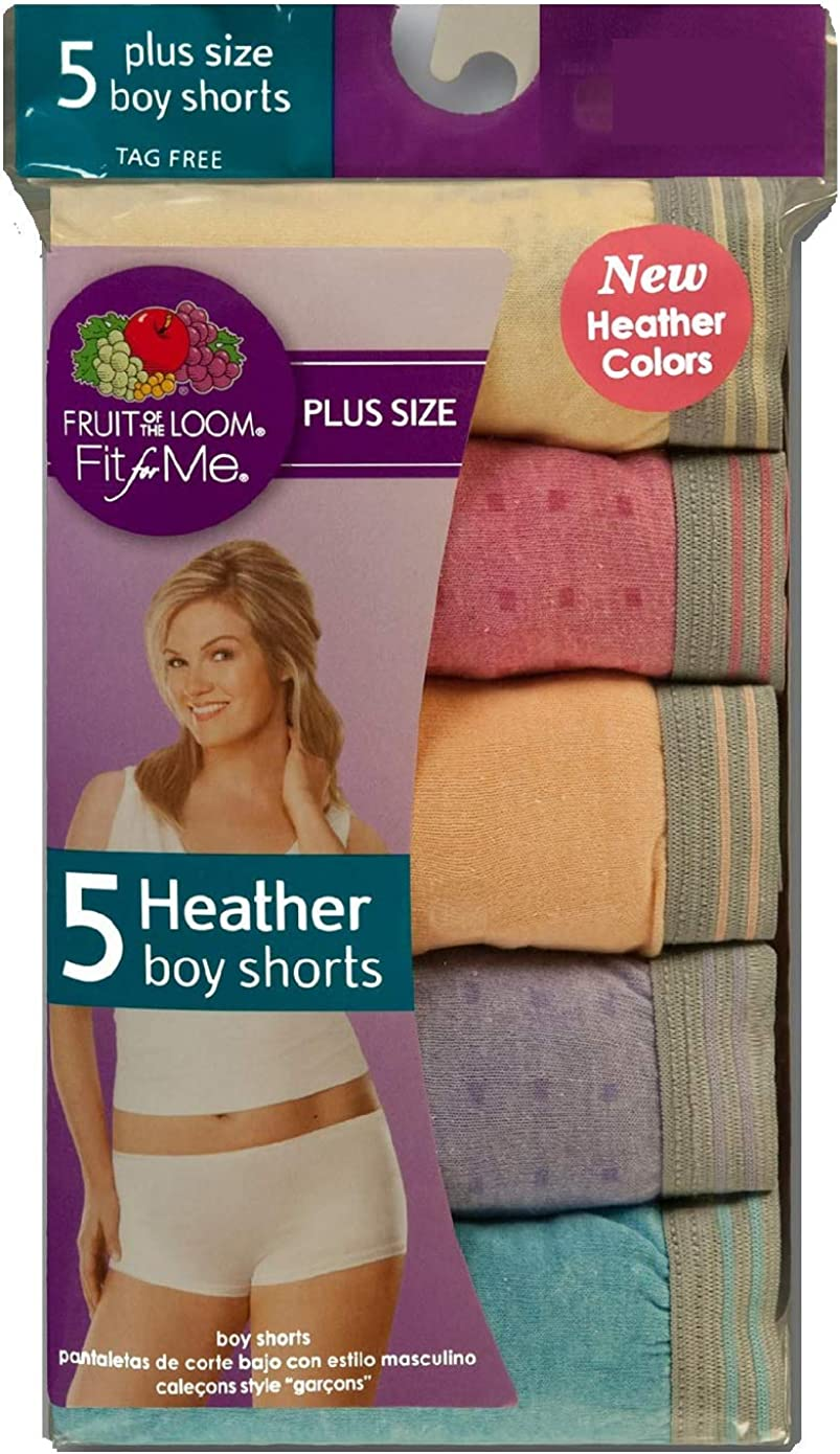 Fruit Of The Loom Women S Fit For Me Plus Size Assorted Heather Boy Shorts 5dbs0hp 12 At Amazon Women S Clothing Store Boy Shorts Panties Women's health may earn commission from the links on this page, but we only feature products we believe in. fruit of the loom women s fit for me