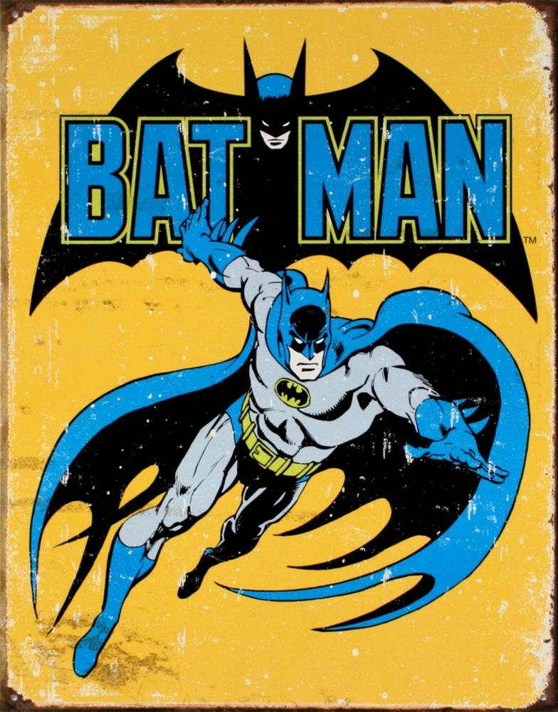 Poster Discount Batman Retro Tin Sign, 13x16, 13x16