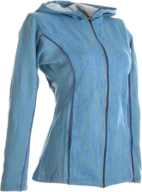 Alternative Bekleidung Kapuzenjacke aus weichem Baumwollfleece Vishes Bedrucktes Damen Hoodie